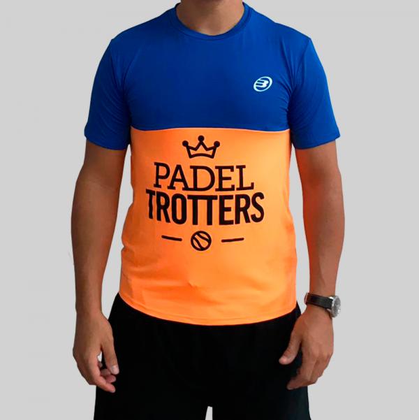 camiseta naranja fluor técnica